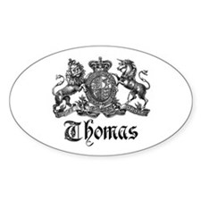 Thomas Vintage Crest Family Name Oval Decal
