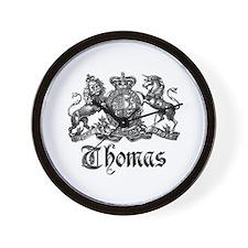 Thomas Vintage Crest Family Name Wall Clock