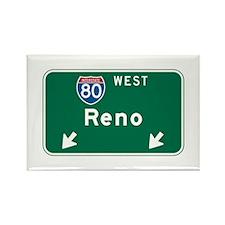 Reno, NV Highway Sign Rectangle Magnet