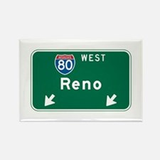 Reno, NV Highway Sign Rectangle Magnet