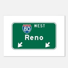 Reno, NV Highway Sign Postcards (Package of 8)