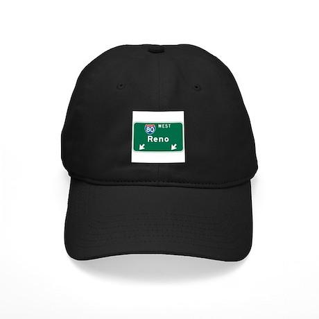 Reno, NV Highway Sign Black Cap