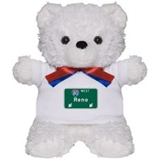 Reno, NV Highway Sign Teddy Bear