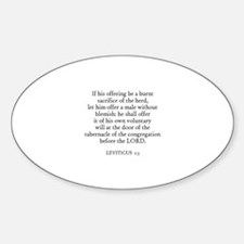 LEVITICUS 1:3 Oval Decal
