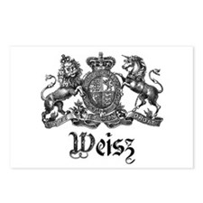 Weisz Vintage Crest Family Name Postcards (Package
