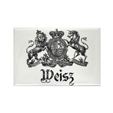 Weisz Vintage Crest Family Name Rectangle Magnet