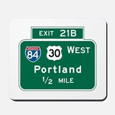 Portland, OR Highway Sign Mousepad