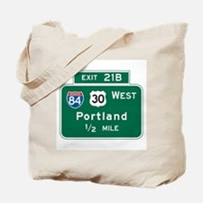 Portland, OR Highway Sign Tote Bag