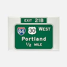 Portland, OR Highway Sign Rectangle Magnet