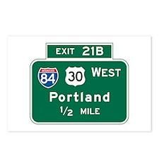 Portland, OR Highway Sign Postcards (Package of 8)