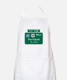 Portland, OR Highway Sign BBQ Apron