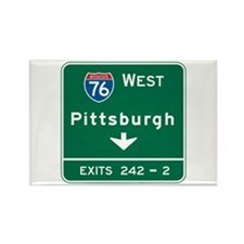 Pittsburgh, PA Highway Sign Rectangle Magnet