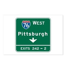 Pittsburgh, PA Highway Sign Postcards (Package of