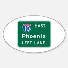Phoenix, AZ Highway Sign Oval Decal