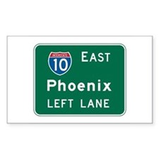 Phoenix, AZ Highway Sign Rectangle Decal