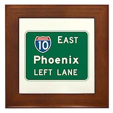 Phoenix, AZ Highway Sign Framed Tile