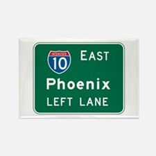 Phoenix, AZ Highway Sign Rectangle Magnet (10 pack
