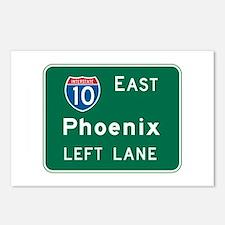 Phoenix, AZ Highway Sign Postcards (Package of 8)