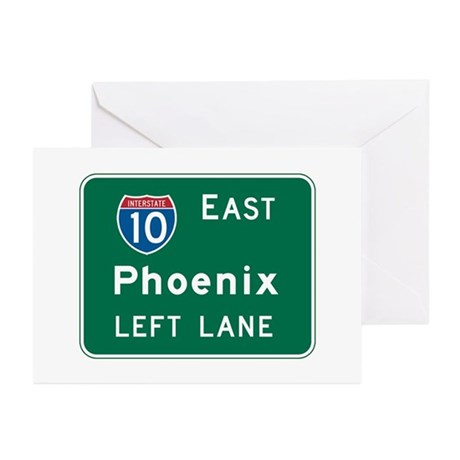 Phoenix, AZ Highway Sign Greeting Cards (Pk of 10)