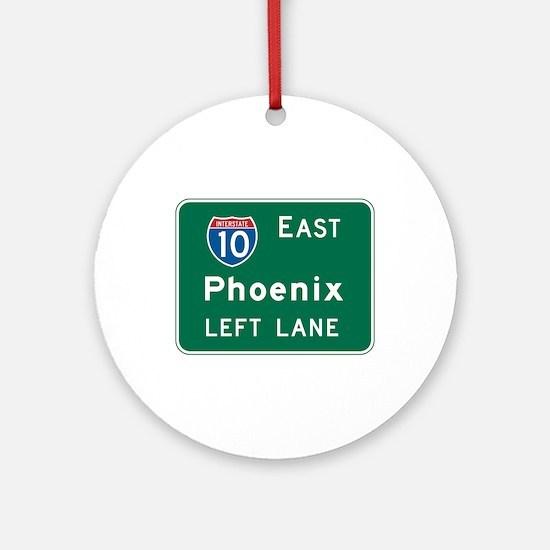 Phoenix, AZ Highway Sign Ornament (Round)