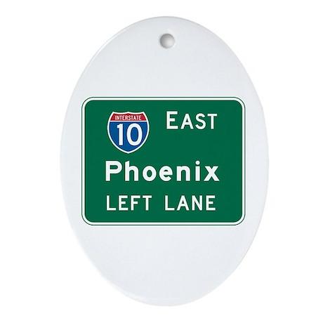 Phoenix, AZ Highway Sign Oval Ornament