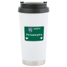Philadelphia, PA Highway Sign Travel Mug