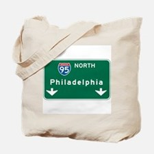 Philadelphia, PA Highway Sign Tote Bag