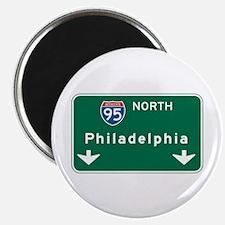 Philadelphia, PA Highway Sign Magnet