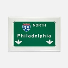 Philadelphia, PA Highway Sign Rectangle Magnet