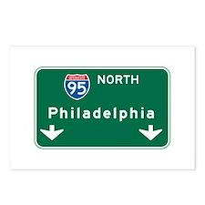 Philadelphia, PA Highway Sign Postcards (Package o