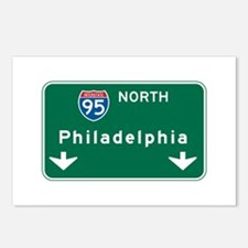 Philadelphia, PA Highway Sign Postcards (Package o