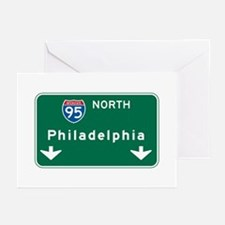 Philadelphia, PA Highway Sign Greeting Cards (Pk o