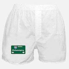 Philadelphia, PA Highway Sign Boxer Shorts