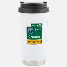Orlando, FL Highway Sign Travel Mug