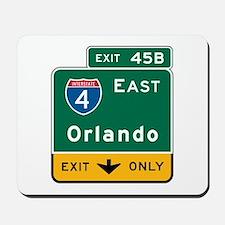 Orlando, FL Highway Sign Mousepad