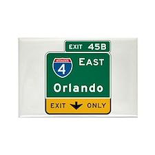 Orlando, FL Highway Sign Rectangle Magnet