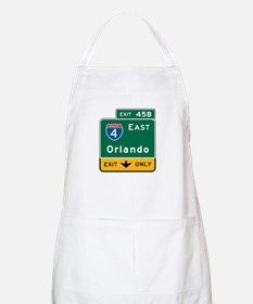 Orlando, FL Highway Sign BBQ Apron