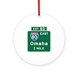 Omaha Round Ornaments