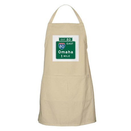 Omaha, NE Highway Sign BBQ Apron