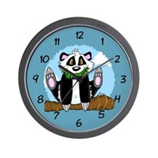 Jumping Panda Bear Wall Clock