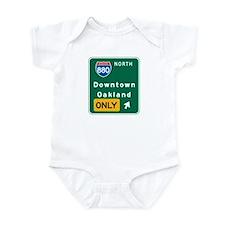 Oakland, CA Highway Sign Infant Bodysuit