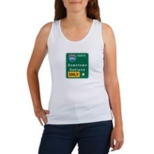 Oakland, CA Highway Sign Women's Tank Top