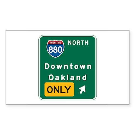Oakland, CA Highway Sign Rectangle Sticker