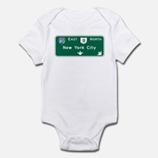 New York, NY Highway Sign Infant Bodysuit
