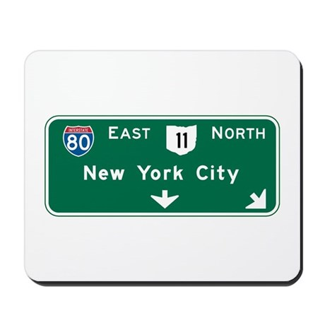 New York, NY Highway Sign Mousepad