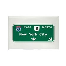New York, NY Highway Sign Rectangle Magnet
