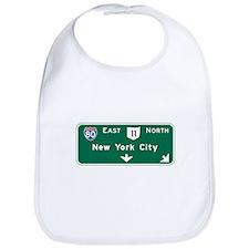 New York, NY Highway Sign Bib