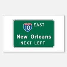 New Orleans, LA Highway Sign Rectangle Decal