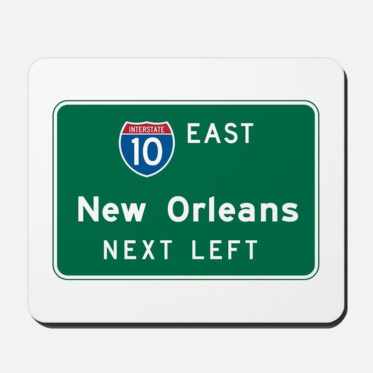 New Orleans, LA Highway Sign Mousepad