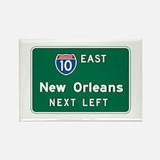 New Orleans, LA Highway Sign Rectangle Magnet